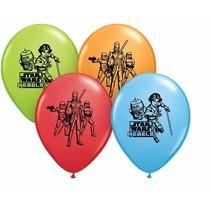 ***Star Wars Rebel 6ct Latex Balloons
