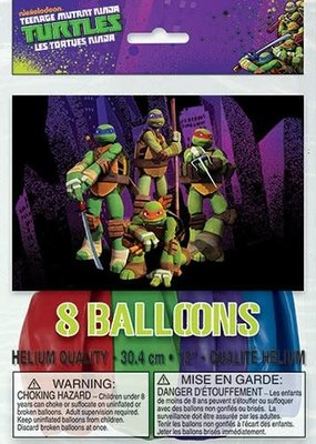 ***Ninja Turtles Latex balloons 8ct