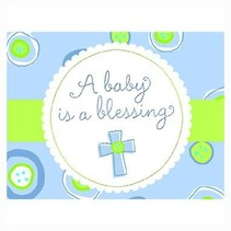 ***Blue a Baby is a Blessing Invitations