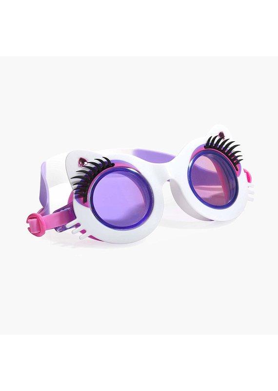 Bling2O ***Whiskers White Swim Goggles