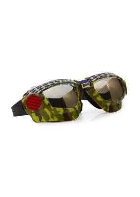 Bling2O ***Dirt Racer Black Metal Grill Swim Goggles