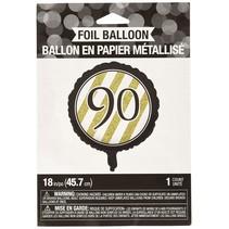 ***Black & Gold 90th Mylar Balloon