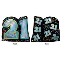 "***21st Brilliant Birthday 27"" Mylar balloon"
