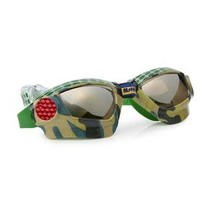 ***4x4 Green Metal Grill Swim Goggles
