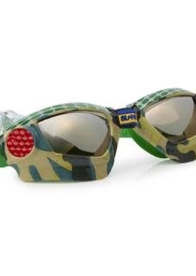 Bling2O ***4x4 Green Metal Grill Swim Goggles