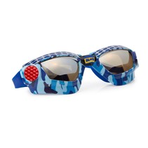 ***Mud Bogging Blue Metal Grill Swim Goggles