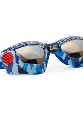 Bling2O ***Mud Bogging Blue Metal Grill Swim Goggles
