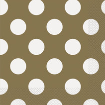 ***Gold Dots Lunch Napkins