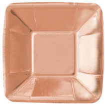 "***Rose Gold Foil 5"" Square Plate"