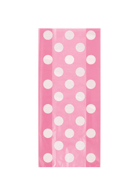 ***Hot Pink Dots Cello Bags 20ct
