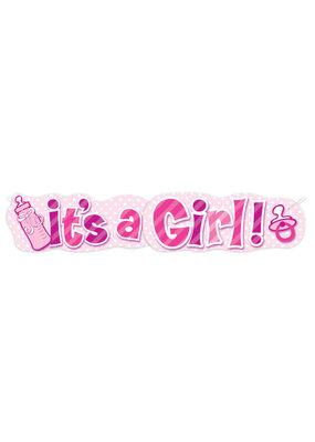 ***It's a Girl Bottle Banner