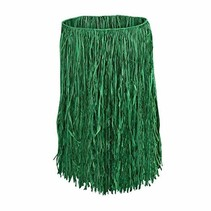 "***Green Adult Hula Skirt 31"" Wide x 28"" Long"