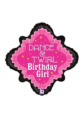 ***Dance & Twirl Birthday Mylar Balloon