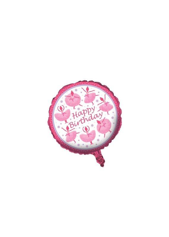 """****TuTu Much Fun 18"""" Mylar Balloon"""