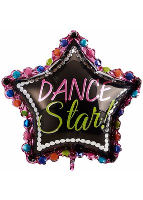 "***Dance Star Supershape 30"" x 30"" Mylar Balloon"
