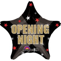 ***Opening Night Star Mylar Balloon