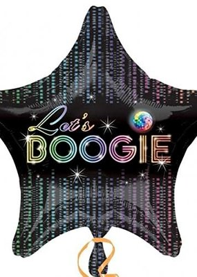 ***Disco Fever Boogie Star Mylar Balloon