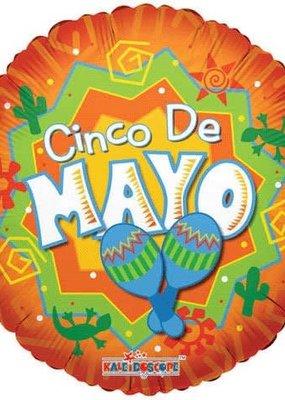 ***Cinco de Mayo Orange Mylar Balloon