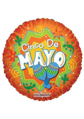 ***Cinco de Mayo Orange Mylar Balloon