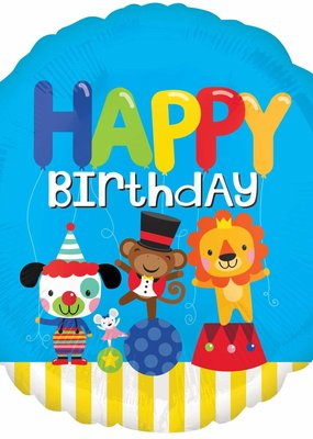 """***Carnival Birthday 18"""" Mylar Balloon"""