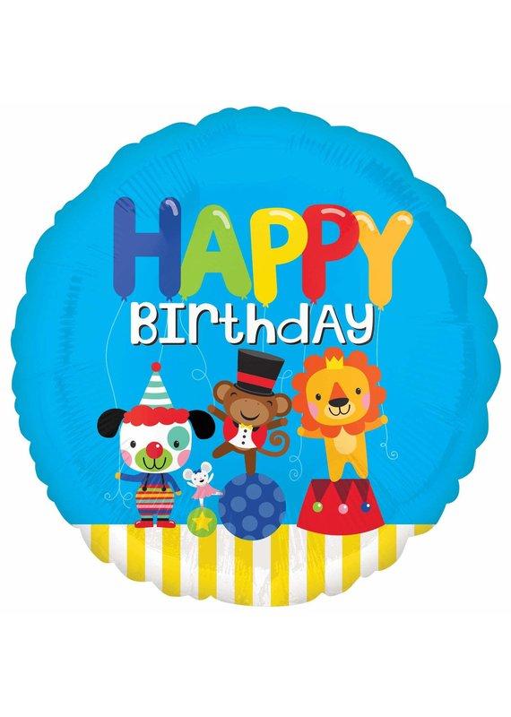 """****Carnival Birthday 18"""" Mylar Balloon"""