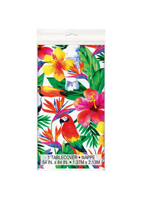 ***Palm Tropical Luau Plastic Tablecover