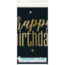 ***Metallic Birthday Plastic Tableover