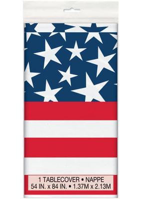 ***Stars and Stripes Plastic Tablecover