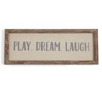 ***Play, Dream, Laugh Wood Sign