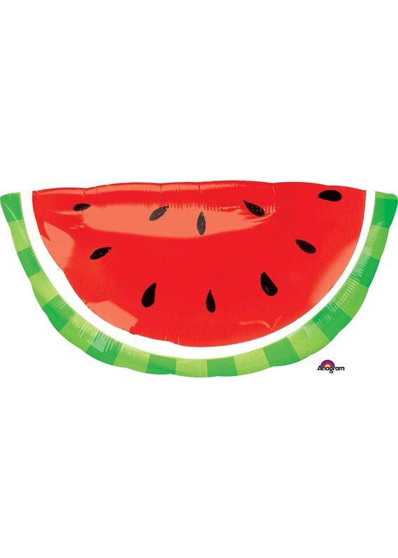 """*****Watermelon Slice Super Shape 32"""" Mylar Balloon"""