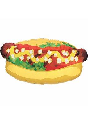 """***Hot Dog Super Shape 32"""" Mylar Balloon"""