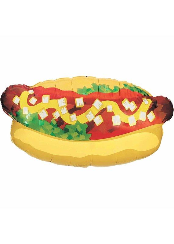 """****Hot Dog Super Shape 32"""" Mylar Balloon"""
