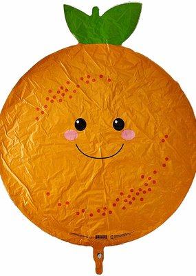 "***Orange Fruit Shape 26"" Mylar Balloon"