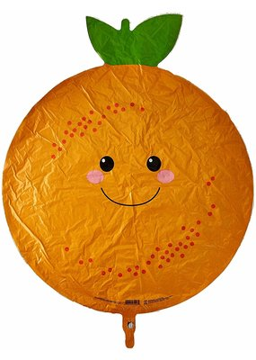 "***Orange Fruit Shape 26"" Mylar Balloon"