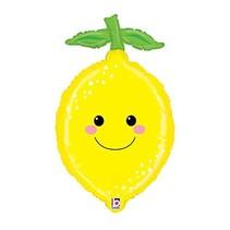 "***Lemon Fruit Shape 29"" Mylar Balloon"