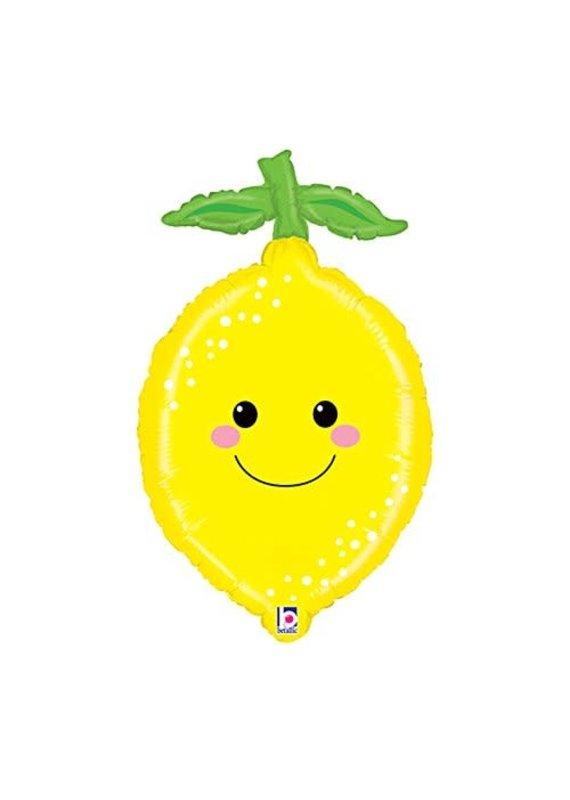 "****Lemon Fruit Shape 29"" Mylar Balloon"