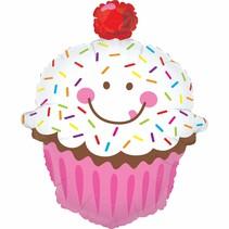 """***Cupcake Sprinkle 31"""" Jumbo Mylar Balloon"""