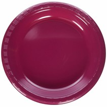 "***Burgundy 10"" Plastic Banquet Plate 20ct"