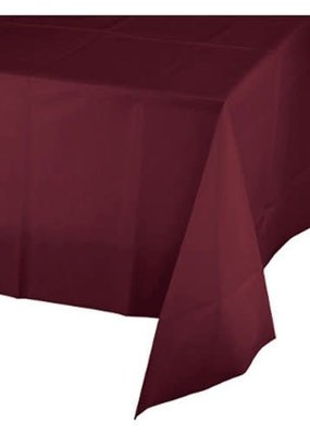 ***Burgundy 54x108 Plastic Rectangle Tablecover