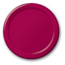 "***Burgundy Royale 9"" Paper Plates 24ct"