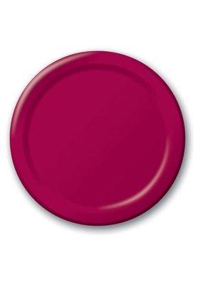 "***Burgundy Royale 9"" Paper Plates 24ct"