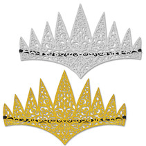 ***Gold & Silver Glittered Tiaras