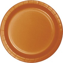 "***Pumpkin Spice 10"" Plastic Banquet Plates 20ct"