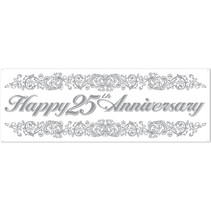***25th Anniversary 5ft Plastic Banner