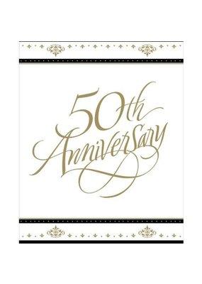 ***Stafford Gold 50th Anniversary Invitations 8ct