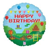 "***Gaming Birthday 18"" Mylar Balloon"