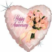 ***Anniversary Flowers Mylar Balloon