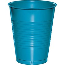 ***Turquoise 16oz Plastic Cup 20ct