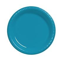 "***Turquoise 10.25"" Plastic Banquet Plates 20ct"