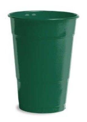 ***Hunter Green 16oz Plastic Cups 20ct